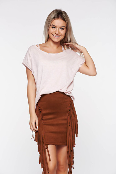 Rosa t-shirt casual elastic cotton with easy cut