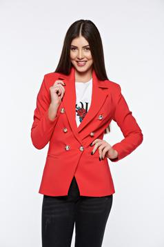 LaDonna coral tented office jacket with inside lining slightly elastic fabric