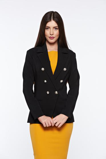 LaDonna black tented office jacket with inside lining slightly elastic fabric