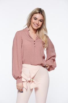 PrettyGirl rosa women`s shirt office nonelastic cotton with easy cut