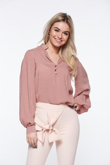 PrettyGirl rosa women`s shirt office nonelastic cotton with easy cut