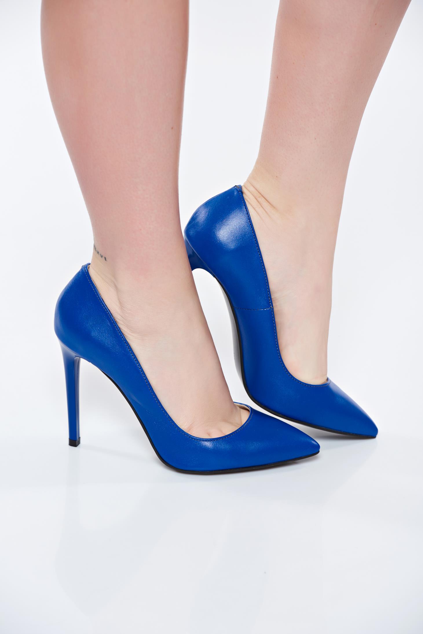 Kék stiletto magassarkú cipő d2a3d70853