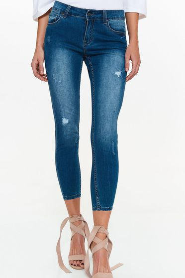 Top Secret blue jeans skinny jeans cotton with medium waist with front and back pockets