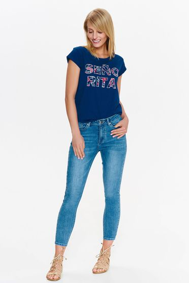 Top Secret blue jeans casual with medium waist cotton skinny jeans