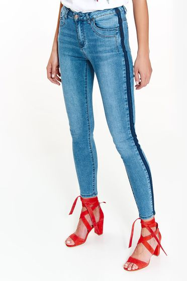 Top Secret blue jeans casual cotton with medium waist with pockets