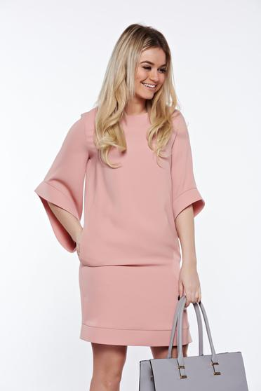 LaDonna rosa elegant dress with easy cut with inside lining with pockets