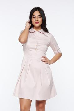 PrettyGirl rosa office cloche dress slightly elastic fabric with round collar