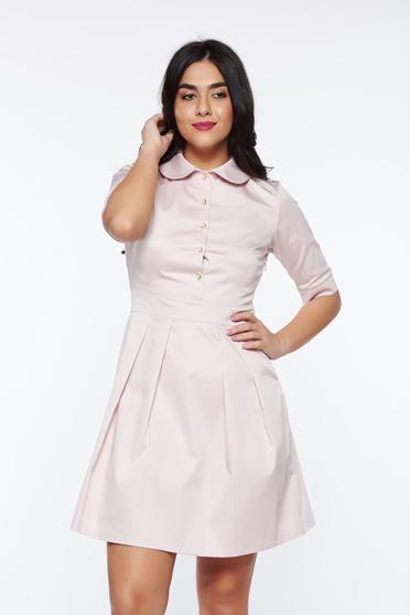 PrettyGirl rosa office cloche dress slightly elastic fabric with round collar