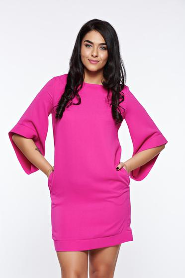 LaDonna pink elegant dress with easy cut with inside lining with pockets