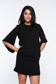 LaDonna black elegant dress with easy cut with inside lining with pockets