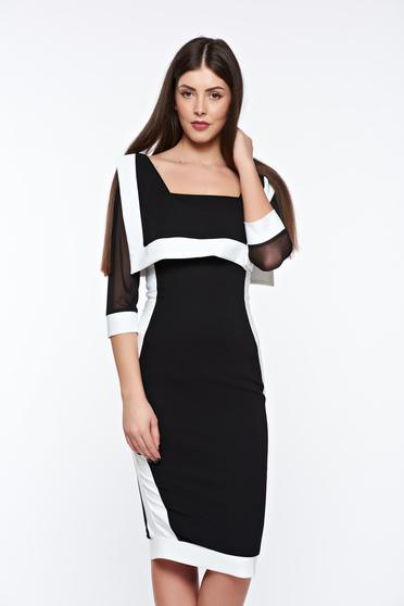 LaDonna black elegant pencil dress from elastic and fine fabric