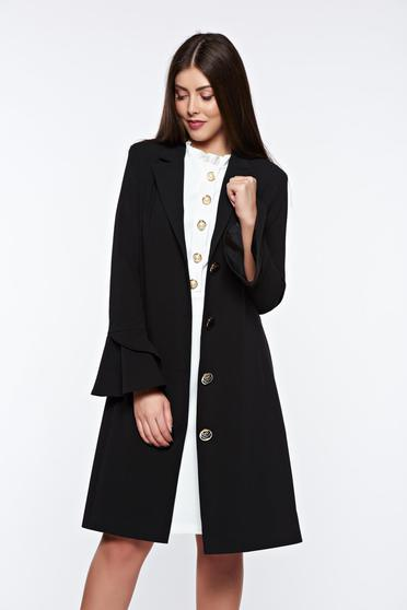 LaDonna black elegant trenchcoat slightly elastic fabric with inside lining