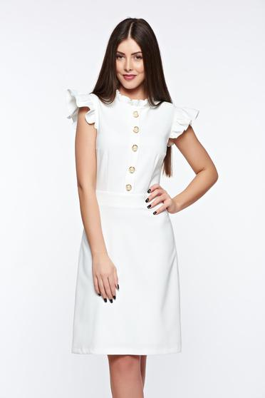 LaDonna white elegant dress from elastic and fine fabric with inside lining