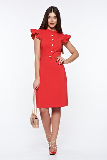 LaDonna red elegant dress from elastic and fine fabric with inside lining