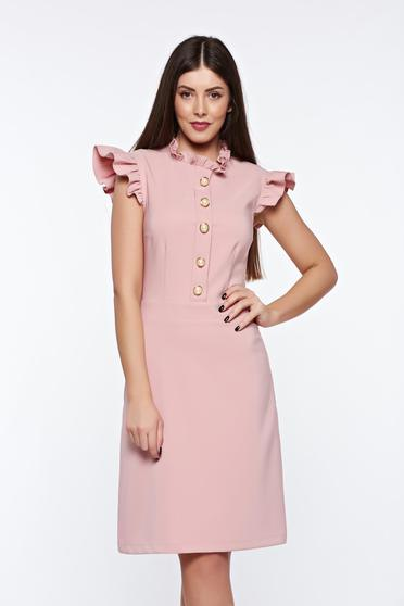 LaDonna rosa elegant dress from elastic and fine fabric with inside lining