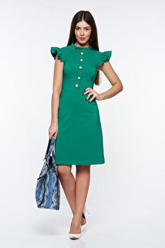LaDonna green elegant dress from elastic and fine fabric with inside lining