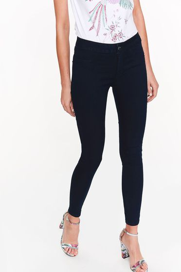 Top Secret darkblue casual skinny jeans cotton jeans with pockets