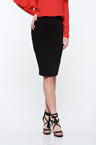 LaDonna black office pencil skirt slightly elastic fabric with inside lining