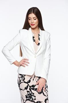 LaDonna white jacket basic with inside lining tented soft fabric