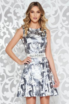 StarShinerS silver elegant dress slightly elastic fabric from shiny fabric
