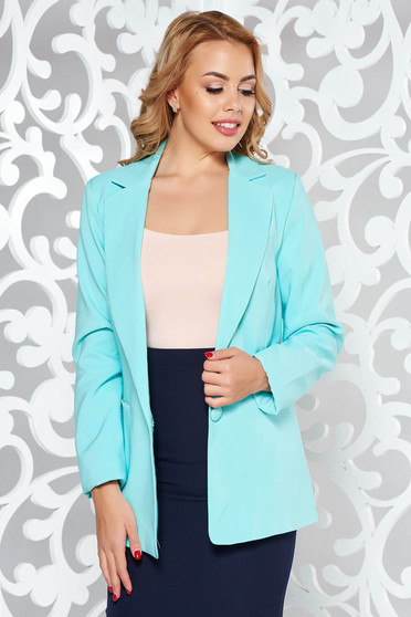 Artista mint jacket with inside lining office from non elastic fabric arched cut