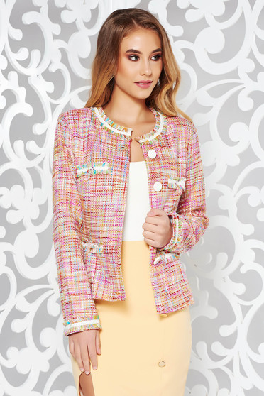 LaDonna rosa elegant jacket with inside lining cotton arched cut