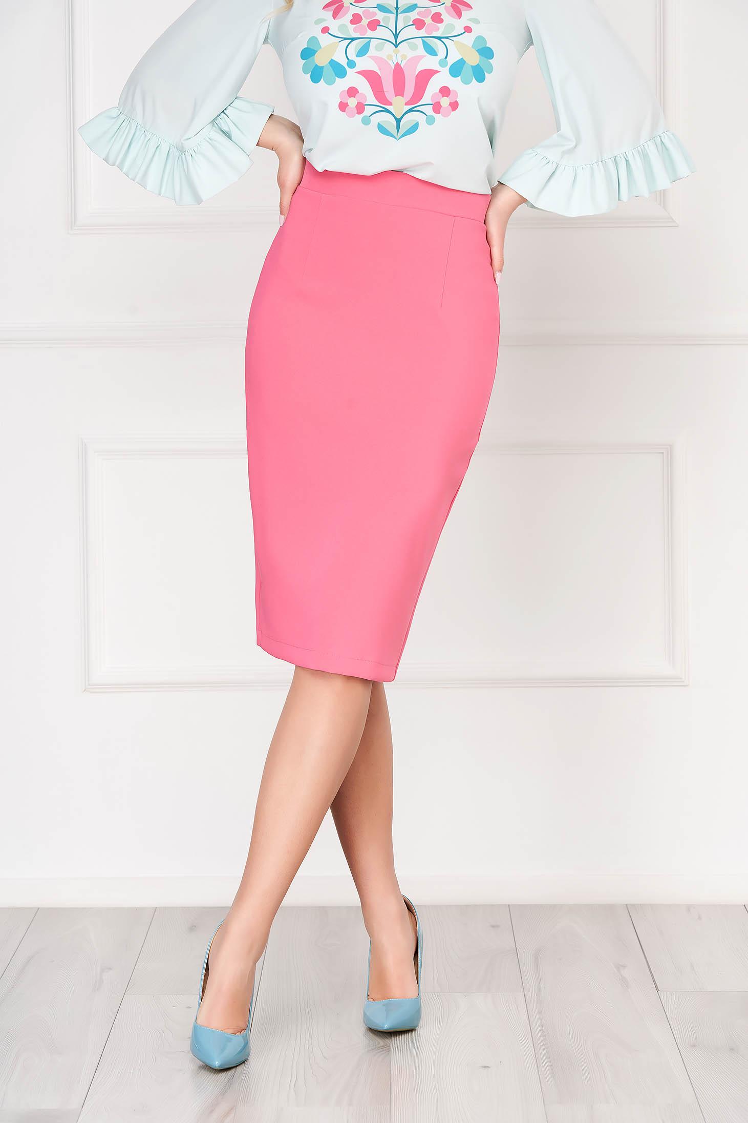 StarShinerS fuchsia high waisted office pencil skirt slightly elastic fabric