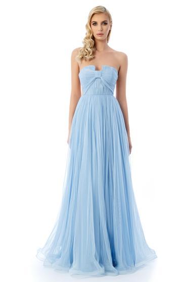 Ana Radu lightblue luxurious dress with inside lining from tulle corset