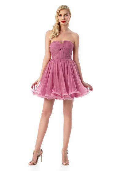 Ana Radu pink luxurious from tulle cloche dress with inside lining corset