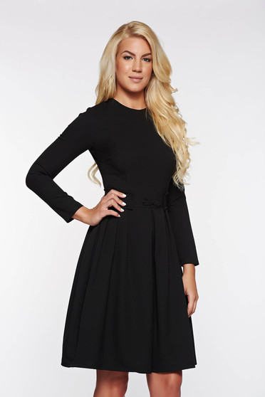 Artista black office cloche dress slightly elastic fabric
