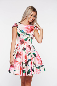 Artista rosa occasional cloche dress from satin fabric texture with inside lining