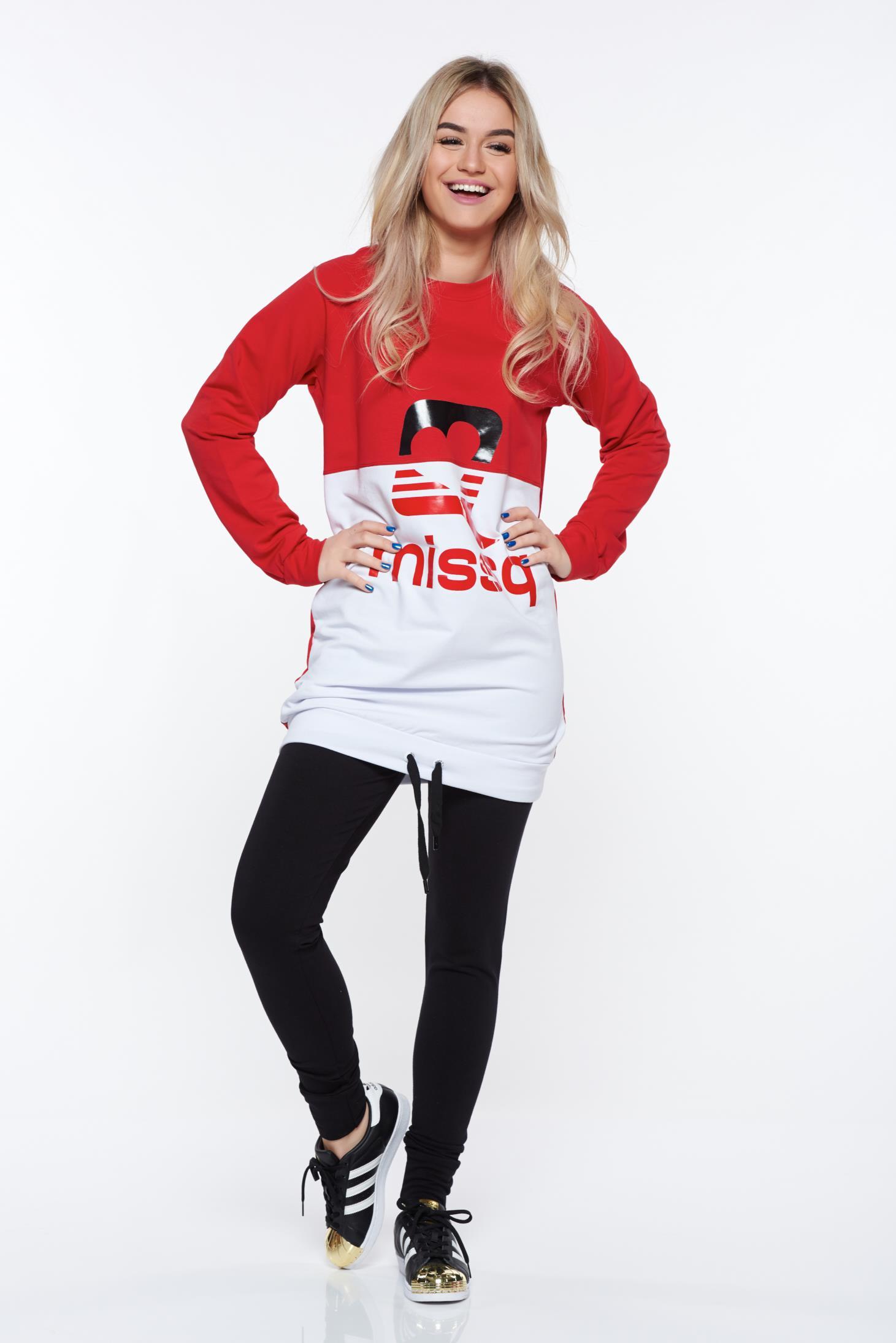 ce13ad6968 Piros MissQ sportos pamutból készült szett derékban rugalmas