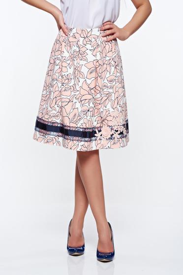 LaDonna rosa elegant cotton cloche skirt handmade applications with inside lining