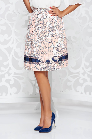 LaDonna rosa elegant cotton cloche skirt handmade applications with inside lining