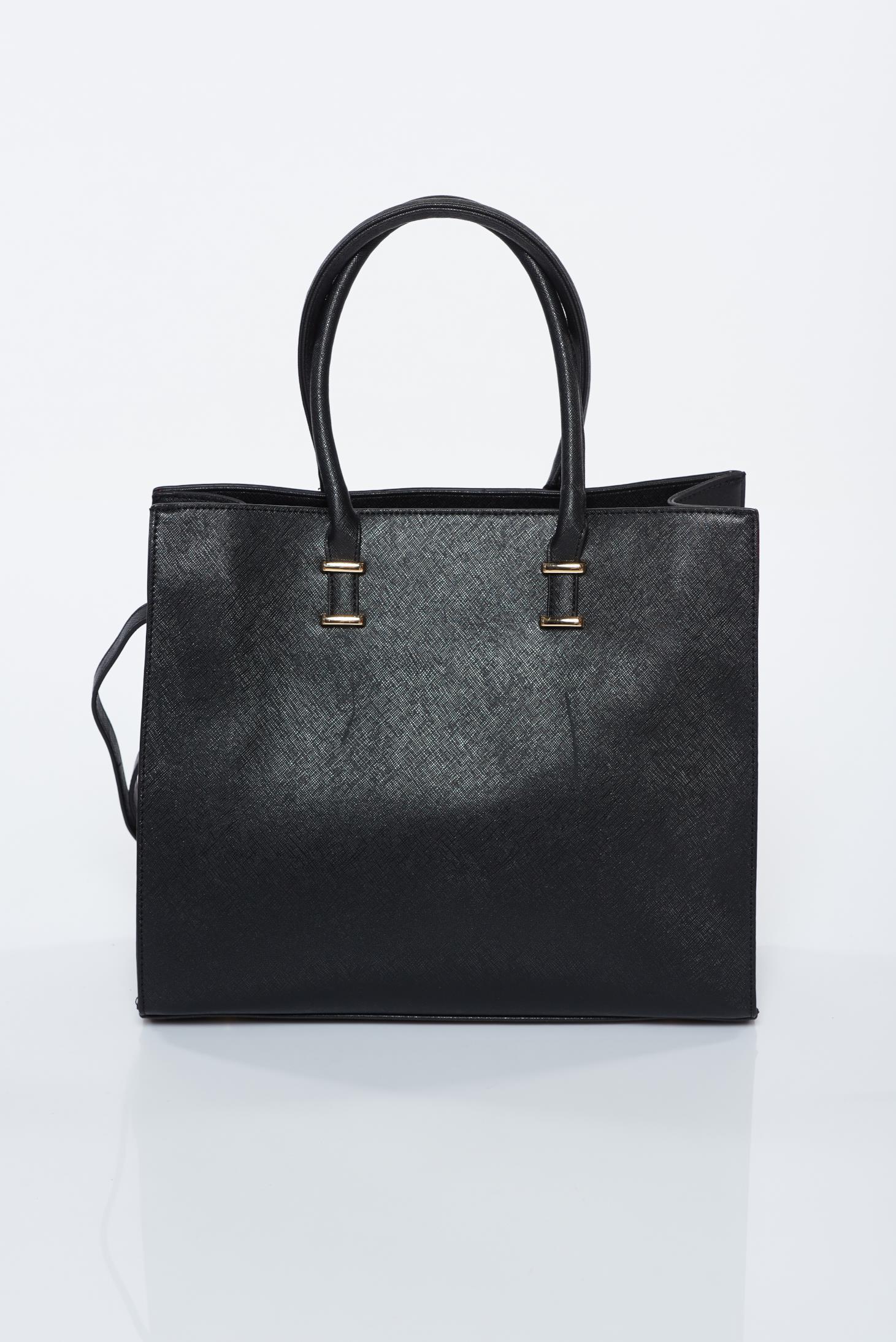 601563681138 Fekete irodai műbőr táska