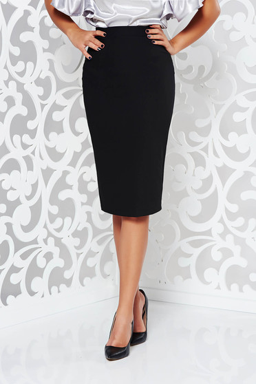 StarShinerS black high waisted office pencil skirt slightly elastic fabric