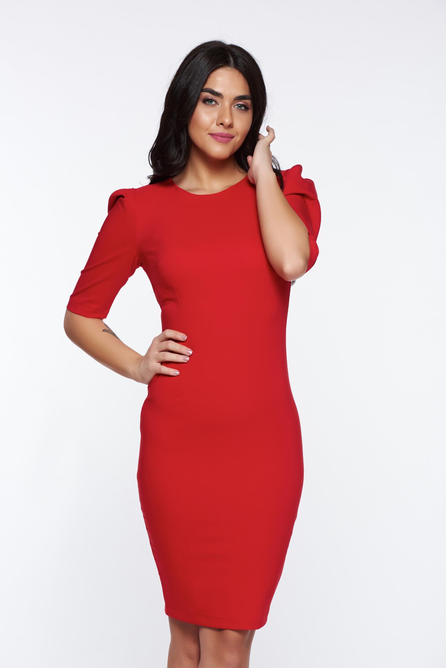 Piros StarShinerS szűk szabás ruha rugalmas és finom anyag d725aae258
