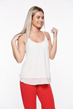SunShine white elegant top shirt transparent chiffon fabric with easy cut