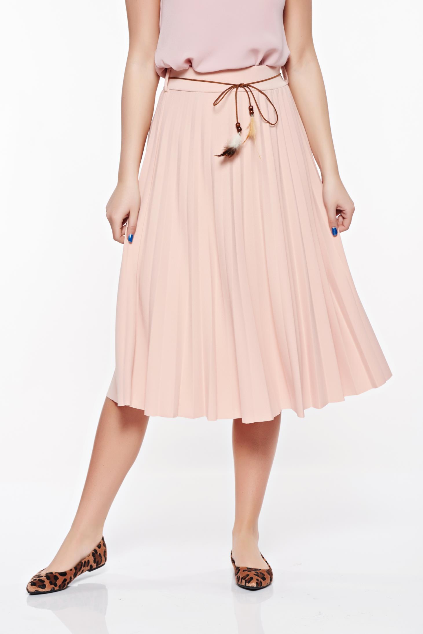 Rózsaszínű magas derekú elegáns SunShine szoknya rugalmas és finom anyag  zsinórral van ellátva 414e00fd2c