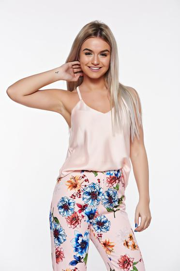 SunShine rosa elegant with easy cut top shirt airy fabric with straps