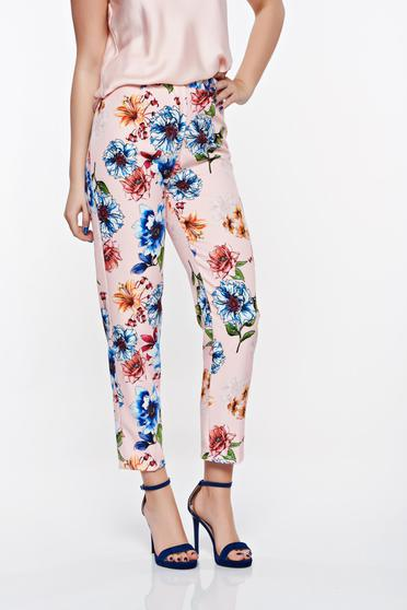 SunShine rosa elegant conical trousers from non elastic fabric with medium waist