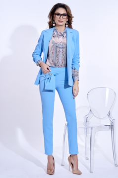 PrettyGirl lightblue tented office jacket with inside lining with pockets from non elastic fabric