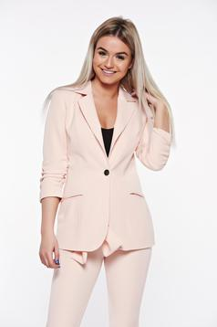PrettyGirl rosa tented office jacket with inside lining with pockets from non elastic fabric