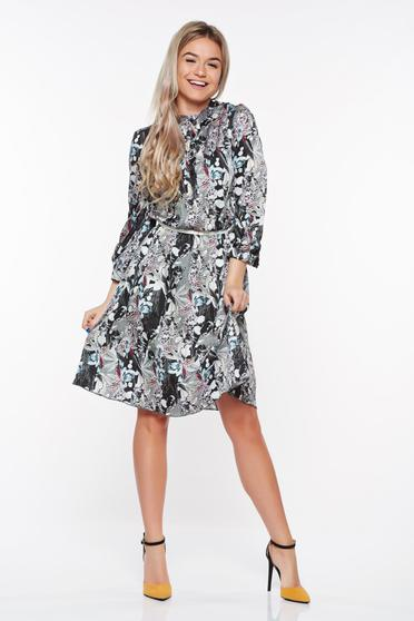 PrettyGirl black daily dress airy fabric with inside lining with elastic waist