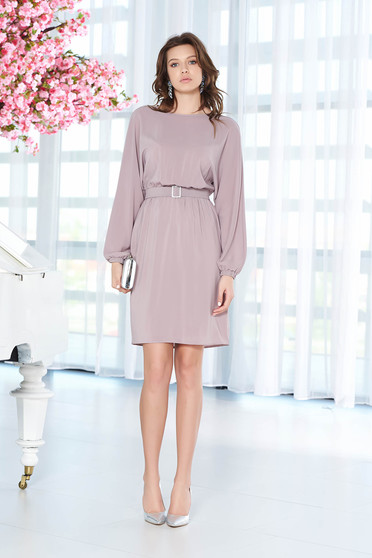 StarShinerS occasional lila flared dress with inside lining from veil