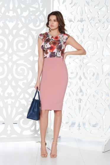 StarShinerS rosa office pencil dress from elastic and fine fabric with inside lining