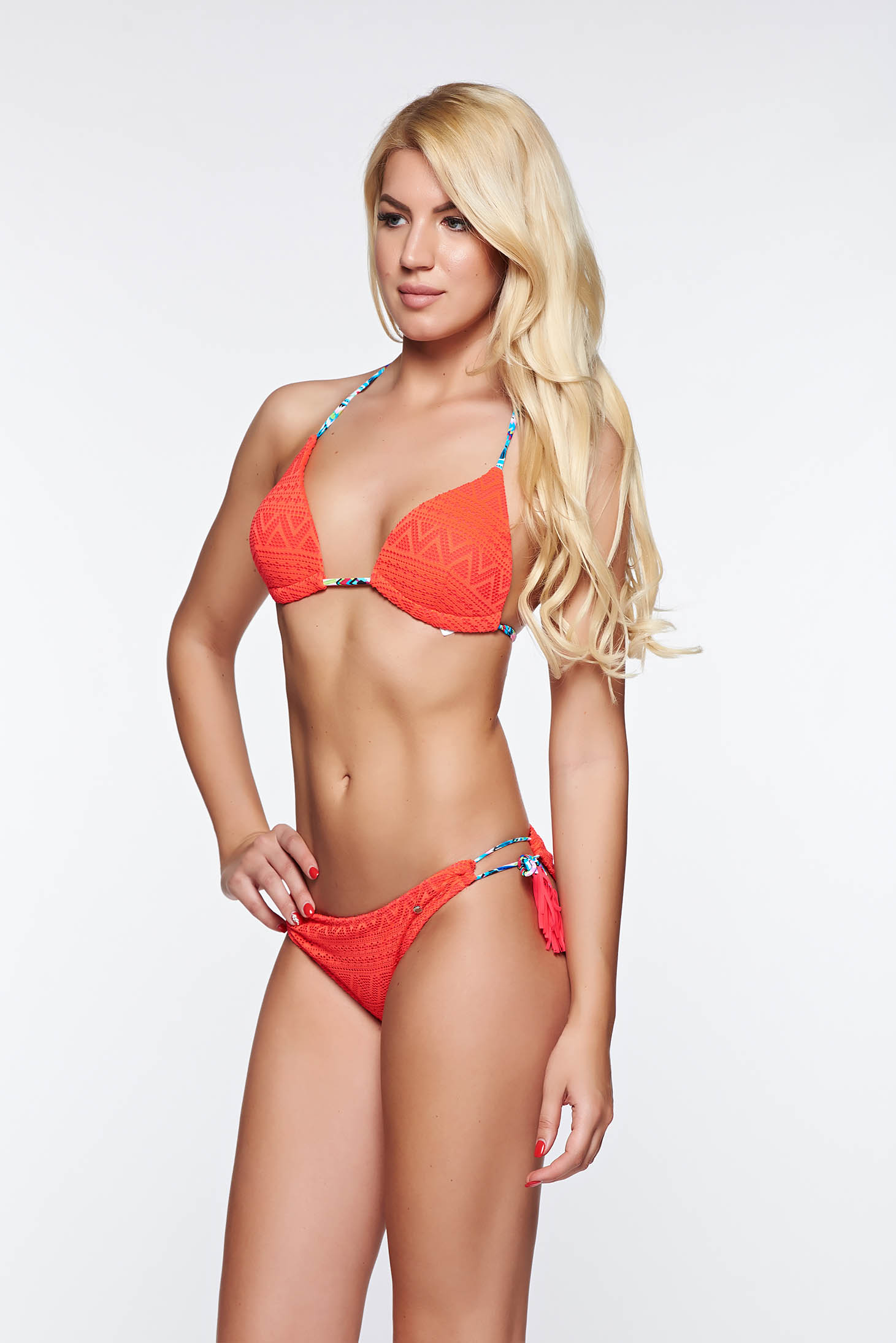 ea46b93489 Top Secret red bathing bikini with classical slip adjustable bikinis with  ...