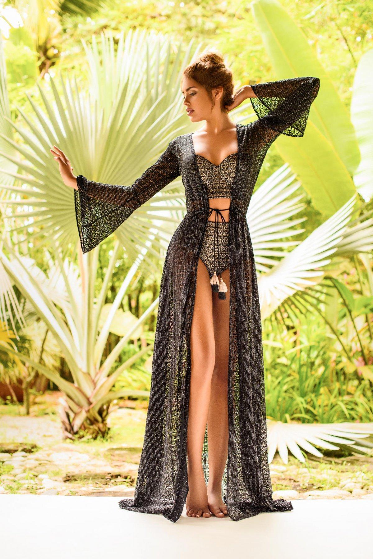 Costum de baie Cosita Linda negru cu slip clasic cu talie inalta si sutien balconette