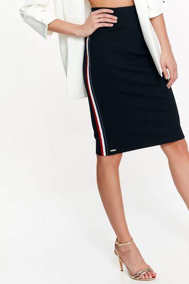 Top Secret black high waisted casual pencil skirt slightly elastic fabric