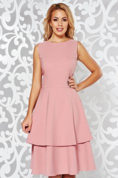 StarShinerS rosa elegant cloche dress slightly elastic fabric with ruffle details